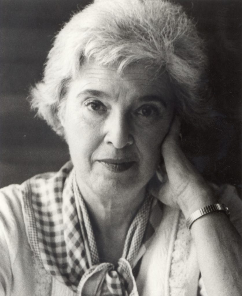 Black and white portrait of Gerda Lerner